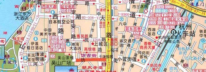 杭州市区最新地图
